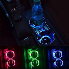 2PCS USB Tasse Pad Autozubehör LED Licht Abdeckungs Innenbeleuchtung beleuchtet