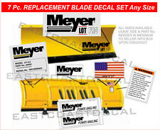 MEYER LOT PRO Snow Plow Decal 7 Pc. Kit w Angles Warnings Front Blade Flag #MLPK