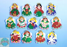 Felt Embroidery Kit ~ Design Works Lotsa Angels Christmas Ornaments (13) #DW5395