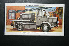 British WW2 Air Raid Emergency Heavy Fire Pump  1930's Vintage Card VGC