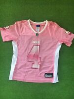 Brett Favre Pink And White Green Bay Packers Jersey Womens Size Small Reebok NFL