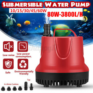 Submersible Water Pump Fish Pond Aquarium Tank Garden Fountain Sump Feature s