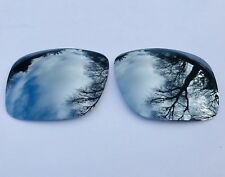 ETCHED POLARIZED CHROME SILVER MIRRORED REPLACEMENT OAKLEY HOLBROOK LENSES