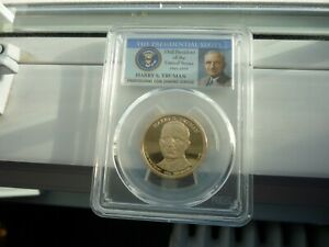 2015S(SPECIAL PCGS SLAB)TRUMAN PRESIDENTIAL DOLLAR-PROOF 69 DECAMEO A BEAUTY