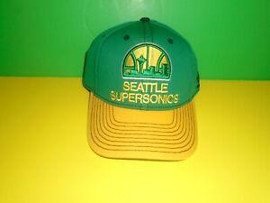 Seattle Supersonics NBA Adidas 2014 2 Tone Flex Fit Hat S/M or L/XL NEW
