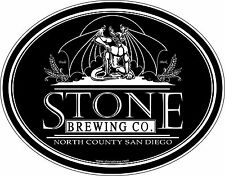 """Stone Brewing Company Beer Alcohol Bumper sticker wall decor, vinyl decal, 5""""x4"""""""