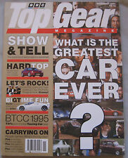 Top Gear 11/1995 featuring TVR Cerbera, Ford GT40, GT70, GT90, Jaguar, Mercedes