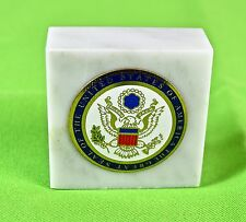 """Great Seal Desk Paperweight, Seal of The Unted States/ 2"""" x 2""""/ on marble"""