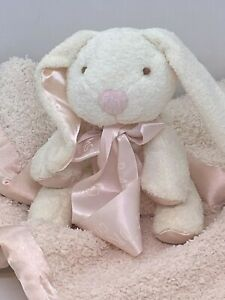 Barefoot Dreams Chenille & Satin CozyChic Barefoot Buddie - Pink/Bunny