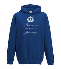 Juko Princesses Are Born In January Hoodie Girls Princess Hoody