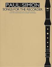 PAUL SIMON SONGS FOR THE RECORDER. PUBLISHED  WITH  LYRICS AND GUITAR DAGRAMS