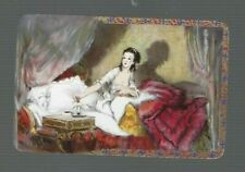 """Swap Playing Cards 1 VINT ENG NMD  """" MILADY """" LADY DRAPED ON BED  BA54  BARRIBAL"""