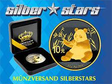10 Yuan China Panda Silber 2017 Gold Black Empire Edition Neuheit Sofort