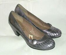 Hush Puppies Diva - Heeled Shoes in Unusual Rare Lilac / Silver Size 6 UK