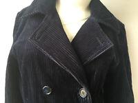 Monsoon ladies coat/outdoor jacket navy blue size UK10 long sleeve Cotton