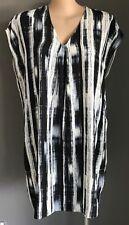 Pre-owned WILDCHILD Black/Grey/White Graphic Stripe Shift Dress Plus Size 20