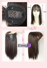 Soft Silk Synthetic Hair Topper Top Piece Women Hairpiece Toupee topper closure
