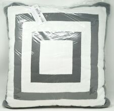"Hudson Park Collection Geometric Knit Decorative Pillow 20"" x 20"" - Gray"