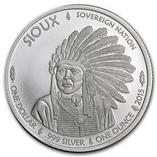 2015 Sioux Indian/Buffalo 1 oz .999 Silver BU Round - AMERICAN USA BULLION COIN