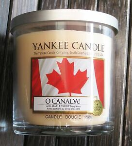 Yankee Candle - O CANADA! - 7 oz Tumbler - VERY RARE AND HARD TO FIND!!