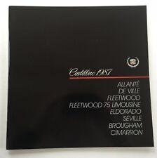 1987 Cadillac 74page BIG Car Brochure Catalog Fleetwood DeVille Eldorado Seville