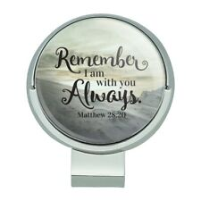 Remember I Am With You Always Mountain Golf Hat Clip With Magnetic Ball Marker
