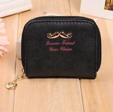 Portafogli piccolo Small Wallet Donna Women Vintage Moustache Black Nero