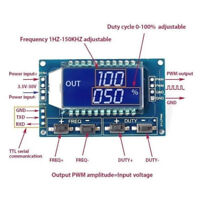 Signal generator PWM pulse frequency duty cycle adjustable module lcd 3.3NWUS