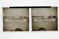 Airfield Flugzeug- Werbung Paris-Soir Frankreich Foto N1 Platte Stereo 6x13cm