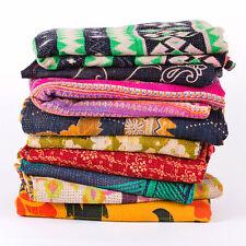 10pc Vintage kantha quilt blanket , Wholesale sari kantha quilt bed cover Throw