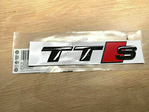 Genuine Style Gloss Black TTS Rear Boot Trunk Emblem Badge Sticker for Audi TT S