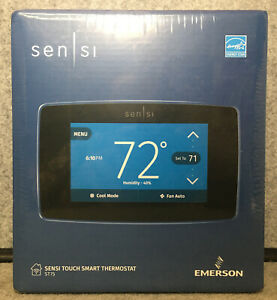 Emerson Sensi Touch Wifi Smart Thermostat ST75 - Black - NEW SEALED!