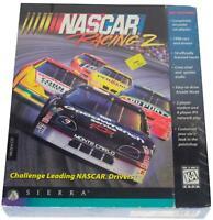 NASCAR RACING 2 Big Box SEALED 90s PC VIDEO GAME 1996 Sierra CD-ROM Win 95 CIB