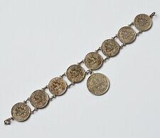 Münzarmband Silber Silbermünzen Kaiserreich 8 x 1/2 Mark 1 x 1 Mark 900 Silber