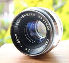 Asahi Kogaku Takumar lens/ 58mm/F2.4 for Asahiflex / 37mm screw lens mount