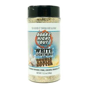BBQ RUB - Boars Night Out - White Lightening Double Garlic Butter - FREE POST!!