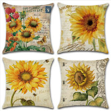 Pillow Cover Printed Living Room Yellow Pillow Case Sofa Car Home Decor 45*45cm