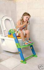 Siège Wc pour Enfant avec Marche Repose-Pieds Réglable Tummy Tub 3 en 1 Trona