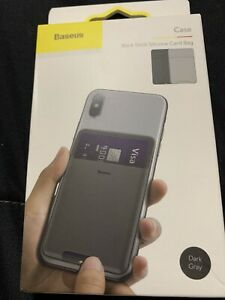 Baseus Mobile Silicone Universal Card Holder for iPhone Samsung Smartphone Pouch