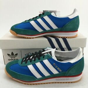 NEW Adidas Mens 6.5 SL72 Noah Lace Up Low Casual Athletic Sneakers Blue FW3276
