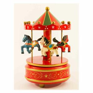 Carillon giostra per Ragazze per Bambini Carillon Musicale carosello Blue 1994 Regalo carosello in Resina Sintetica Natalizia