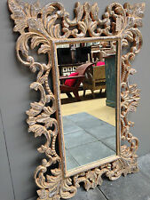 Antique Beige French Provincial Carved Mirror Full Length 120 x 80