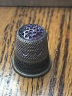 Thimble+Sterling+Silver+purple+Stone+Size+10+made+Germany