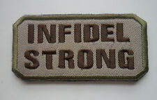 infidel Morale Tactical Patch Multitan 3.75 inch EMBROIDERED HOOK PATCH