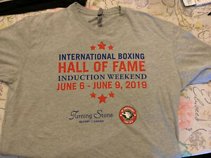 2019 International Boxing Hall Of Fame White Tshirt Turning Stone Casino New