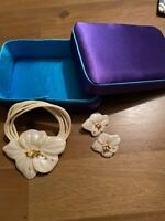 Porcelain Necklace And Earrings By Carol Halmy