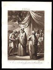 santino incisione acquatinta 1800 S.ROMUALDO AB. DI CAMALDOLI
