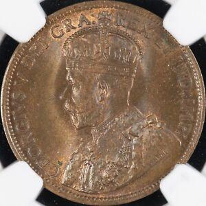 Canada 1915 Cent.  NGC 65 BN.  GEM BU.  Only 1 BN graded higher