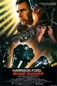 Blade Runner (1982) Movie Poster, Original, SS, Unused, NM, Folded