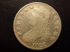 1822 capped bust half dollar